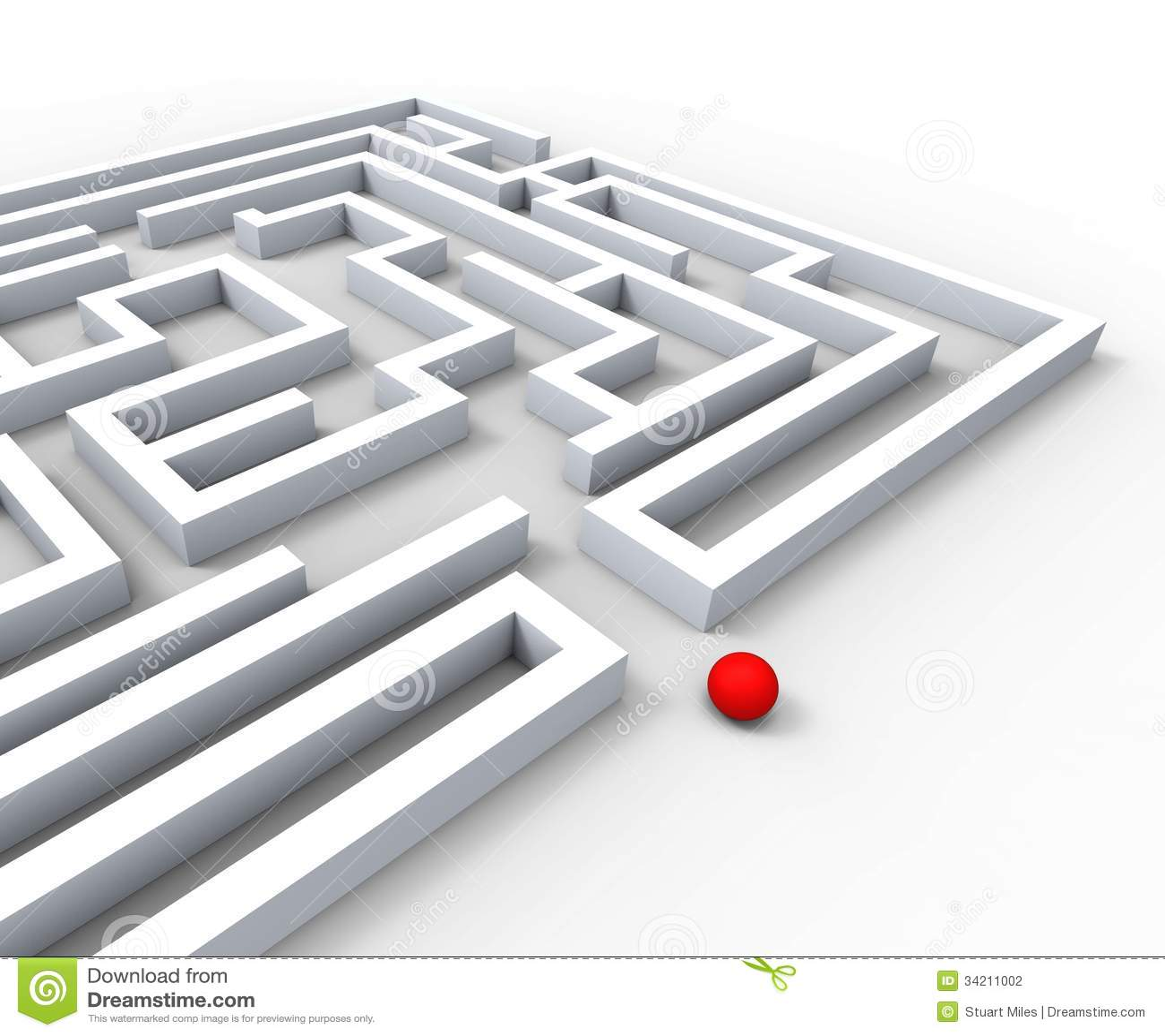 复杂的迷宫显示复杂和挑战