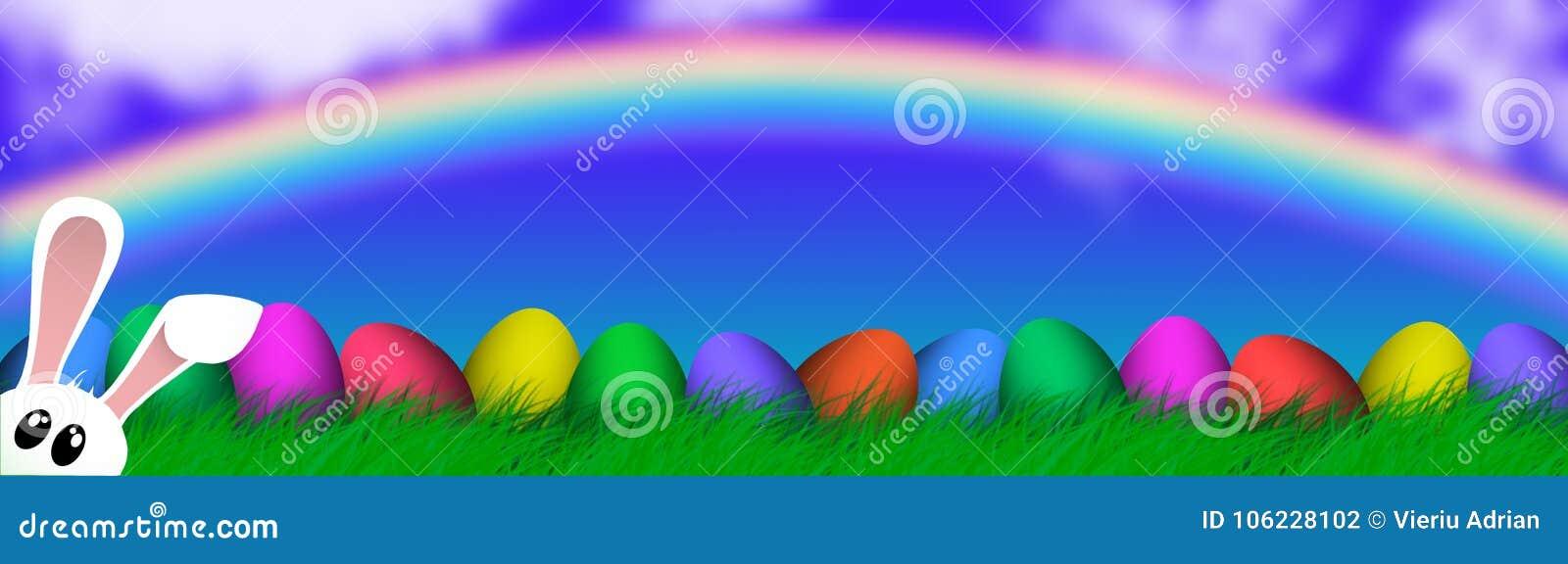 复活节五颜六色的蛋宗教背景假日