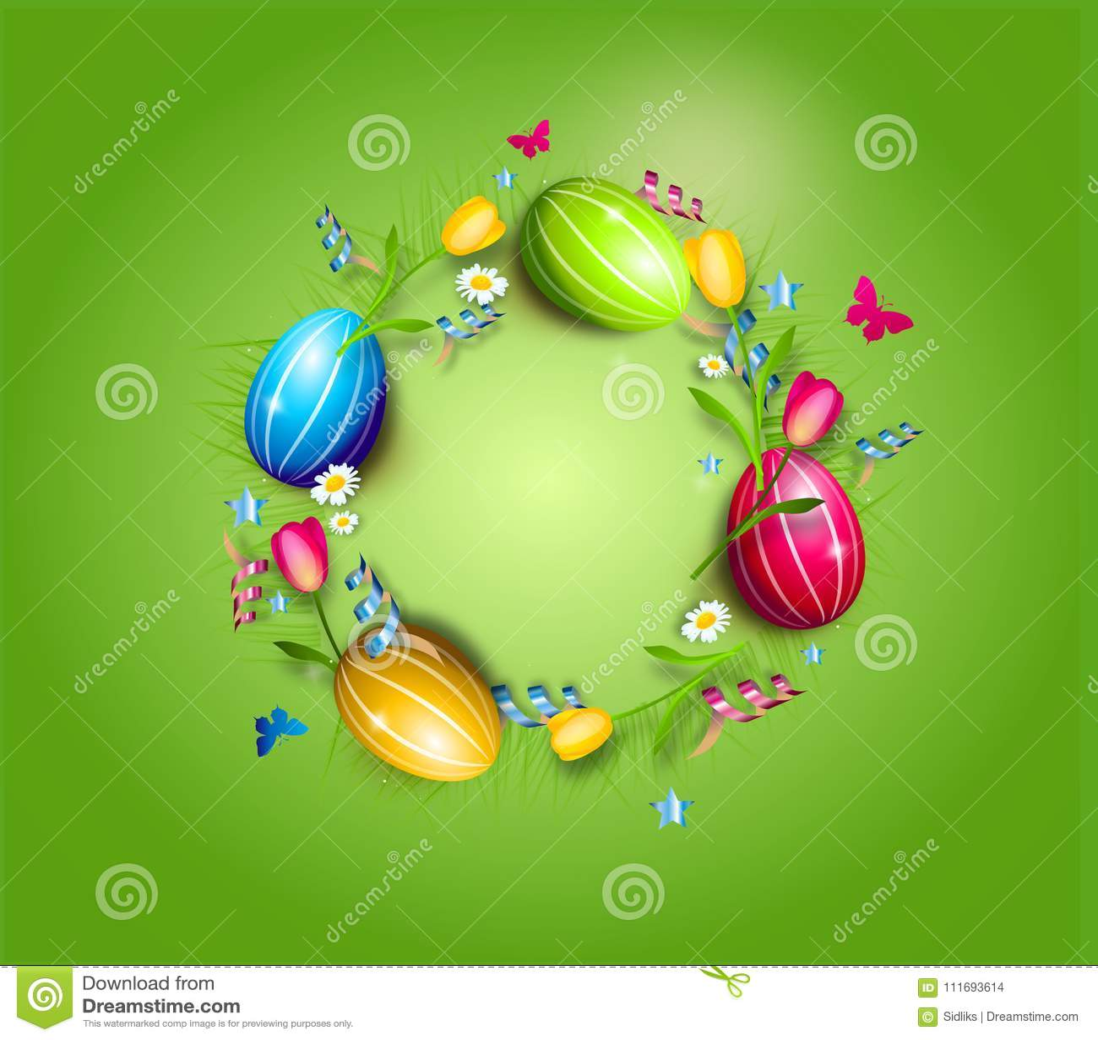 复活节彩蛋圈子背景