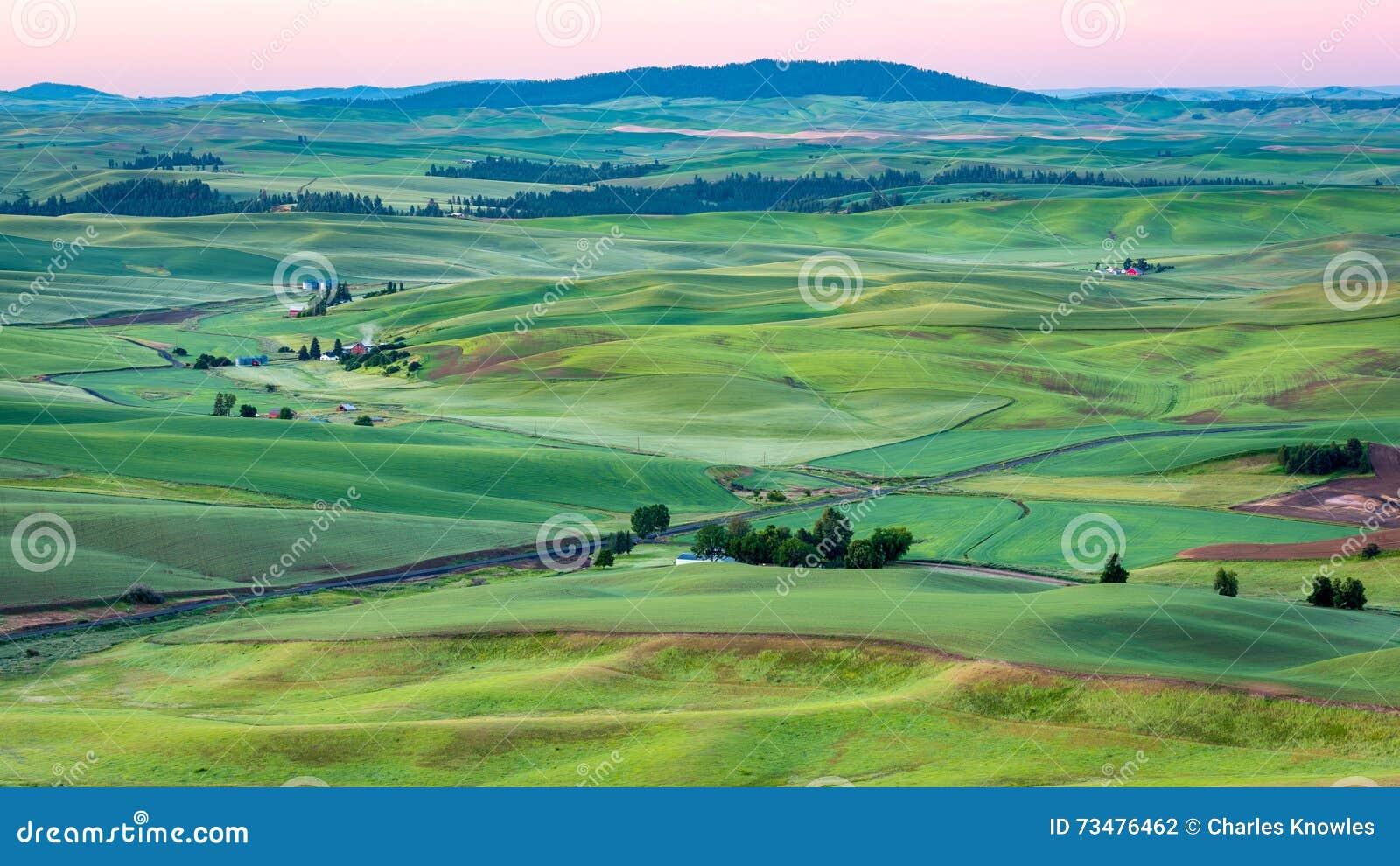 复活节华盛顿农场土地鸟瞰图