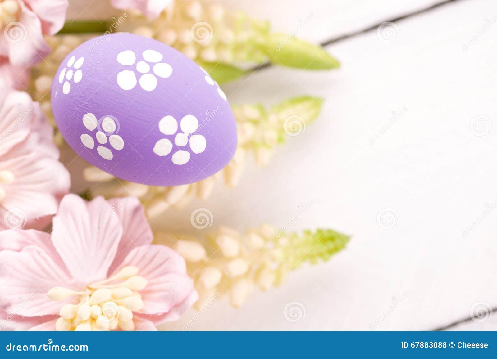 复活节彩蛋花春天