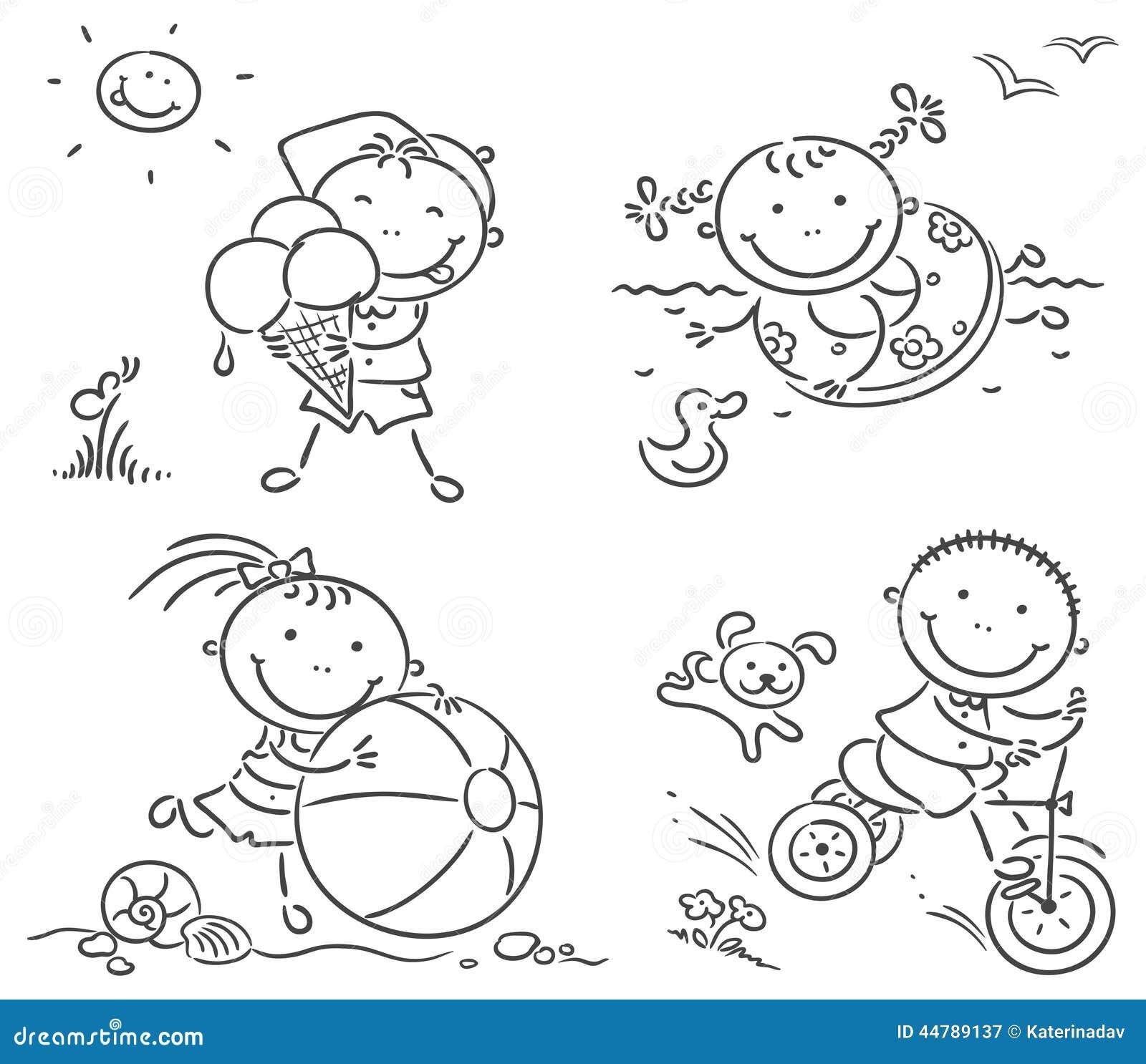 Desenhar Plantas De Casas 夏天哄骗活动户外 向量例证 插画 包括有 ,并且 演员 逗人喜爱 休闲 游泳 夏天 艺术 男朋友