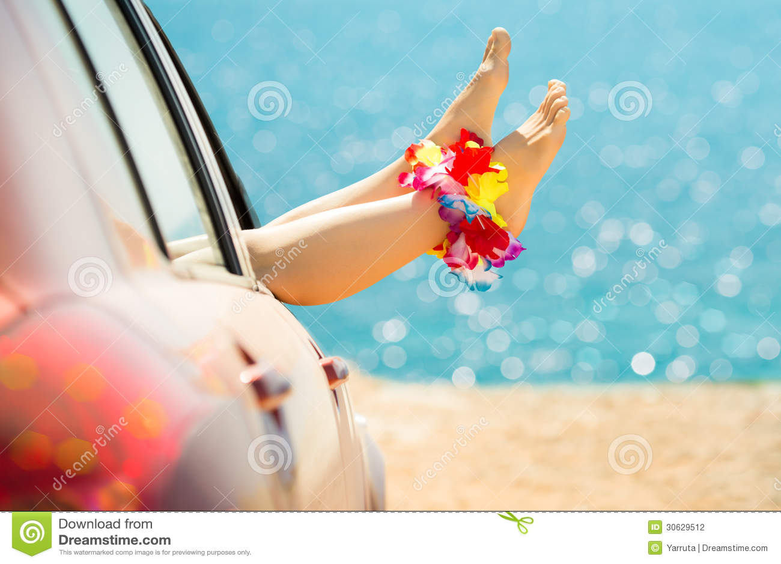 夏天汽车旅行