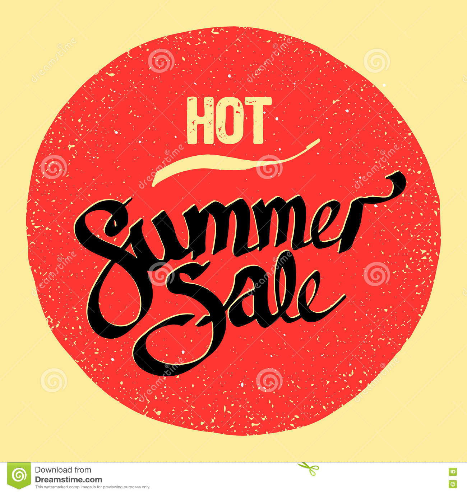 夏天销售标志