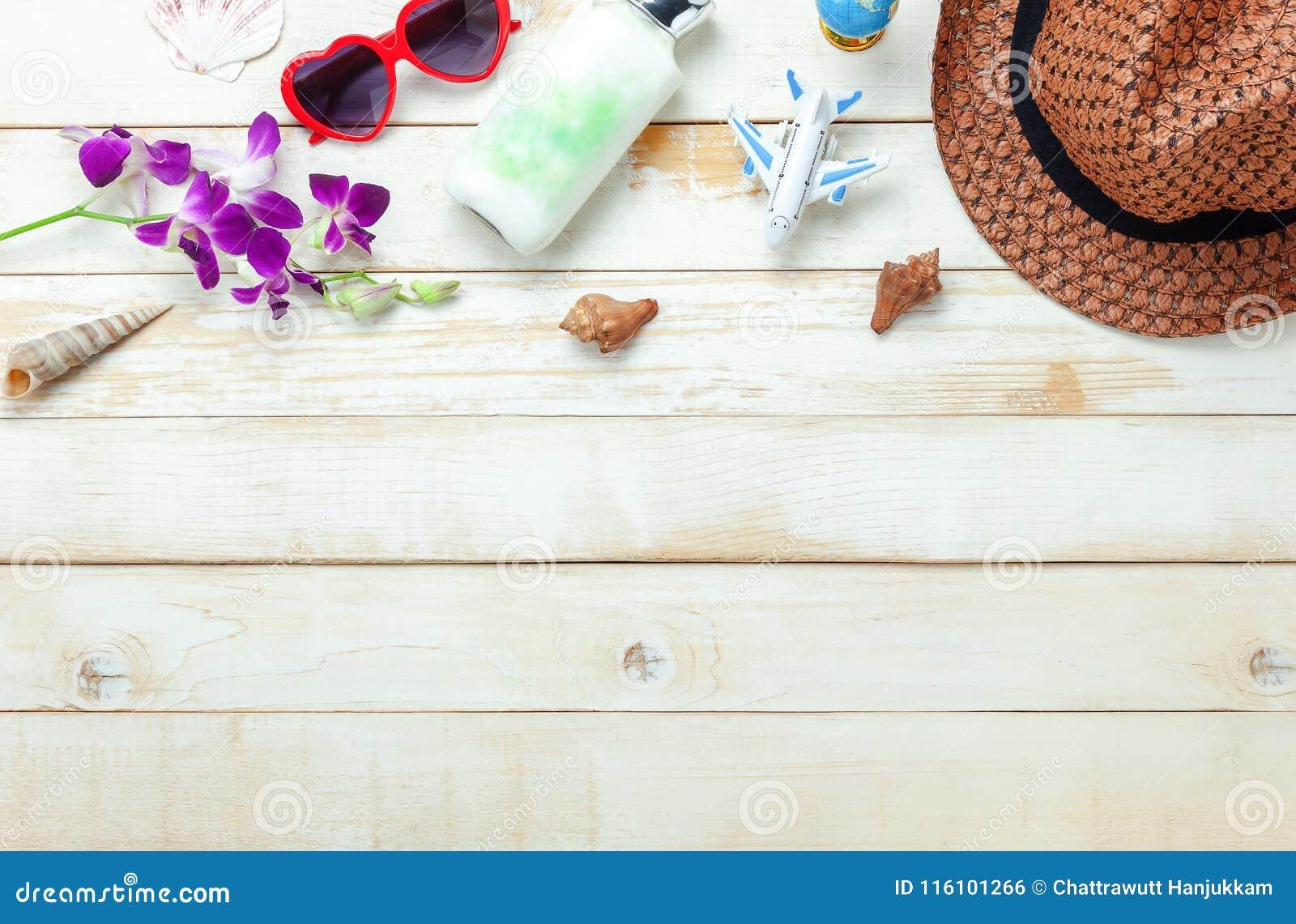 夏天&旅行海滩假日的台式视图空中图象在季节