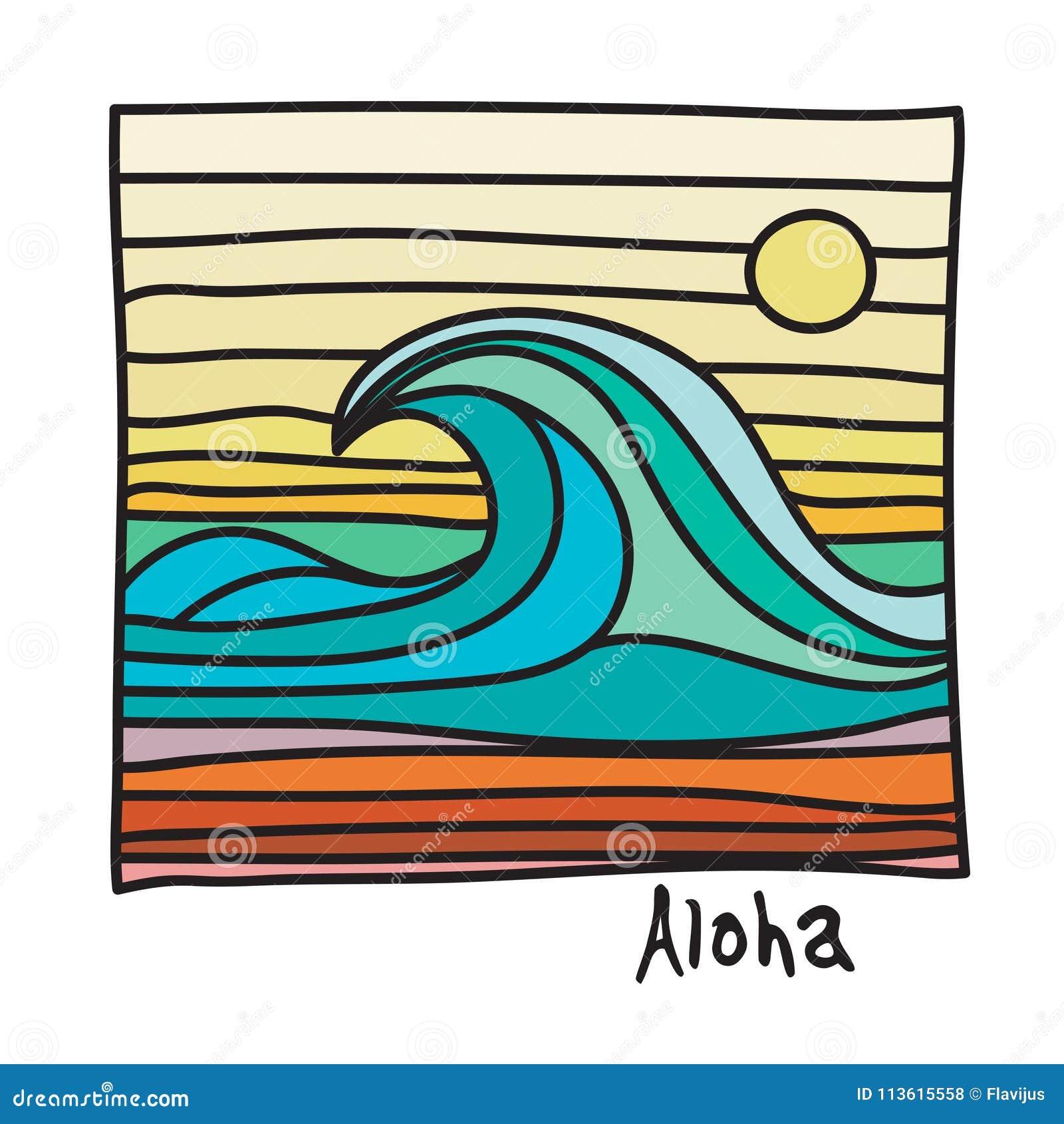 夏威夷海滩,冲浪者海报