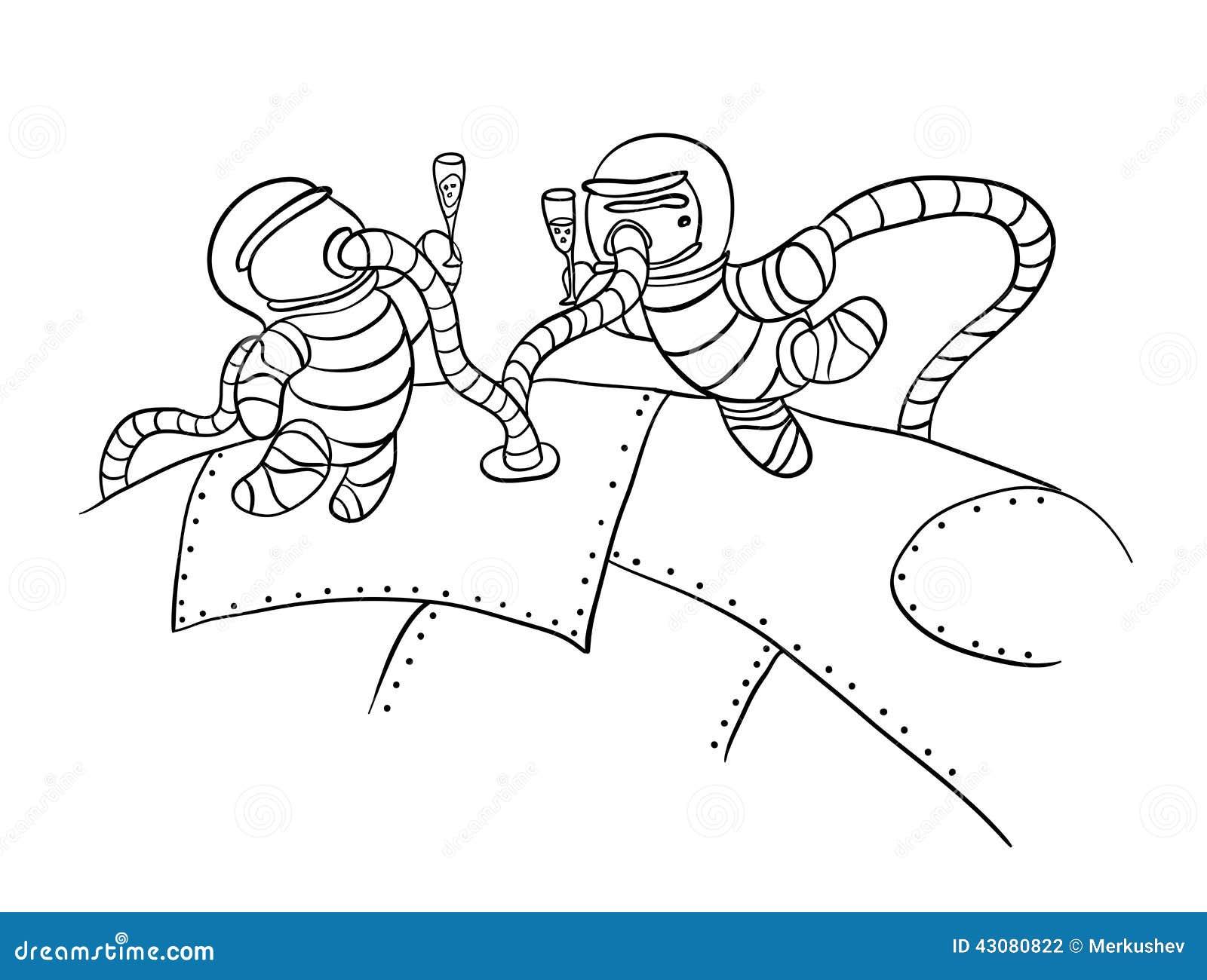外层空间的,传染媒介宇航员