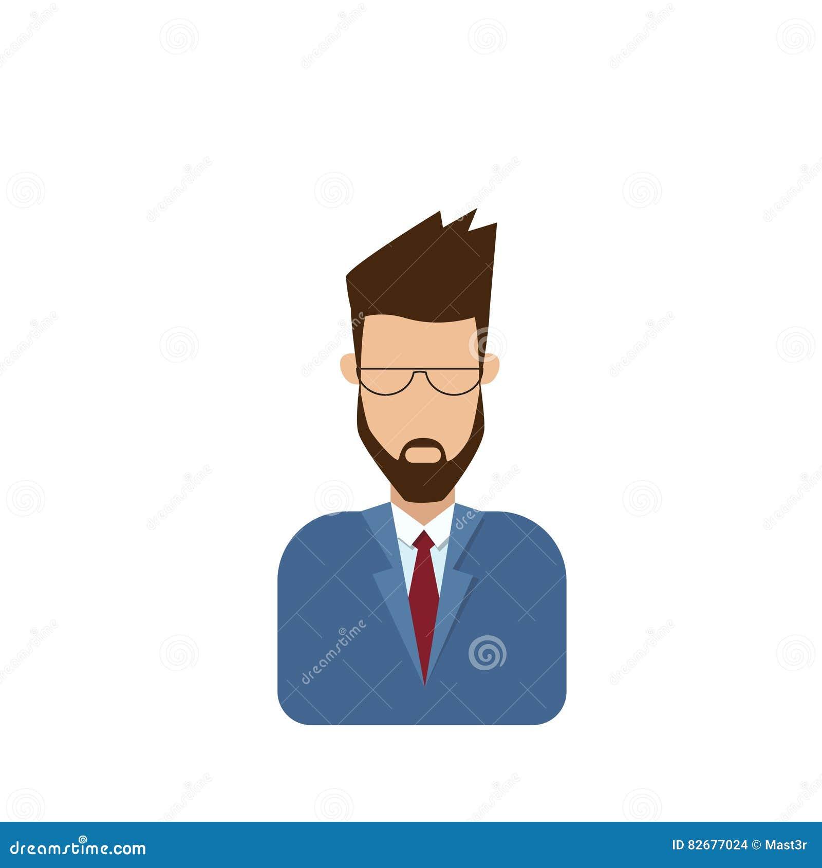 外形象男性具体化人,行家动画片人胡子画象,偶然人剪影面孔