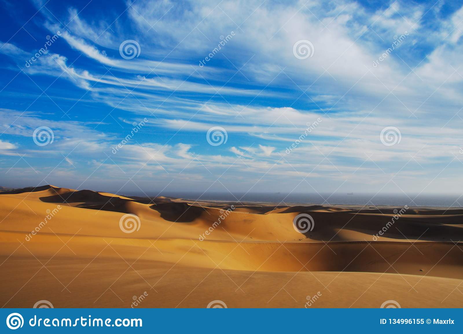 多云斯瓦科普蒙德沙漠风景,纳米比亚