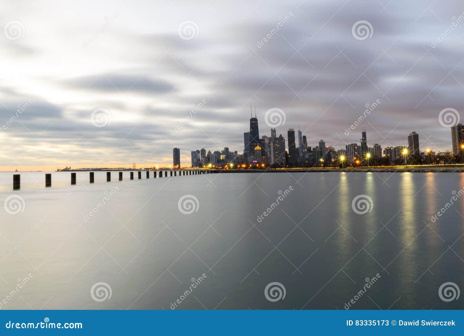 多云早晨在芝加哥