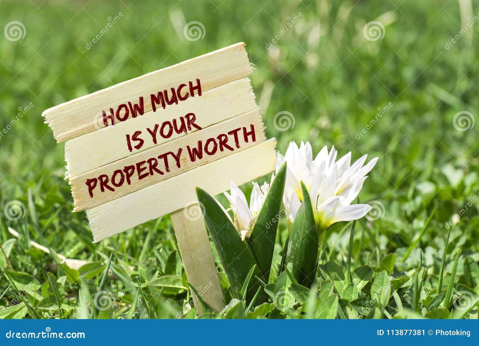 多少是您的物产价值