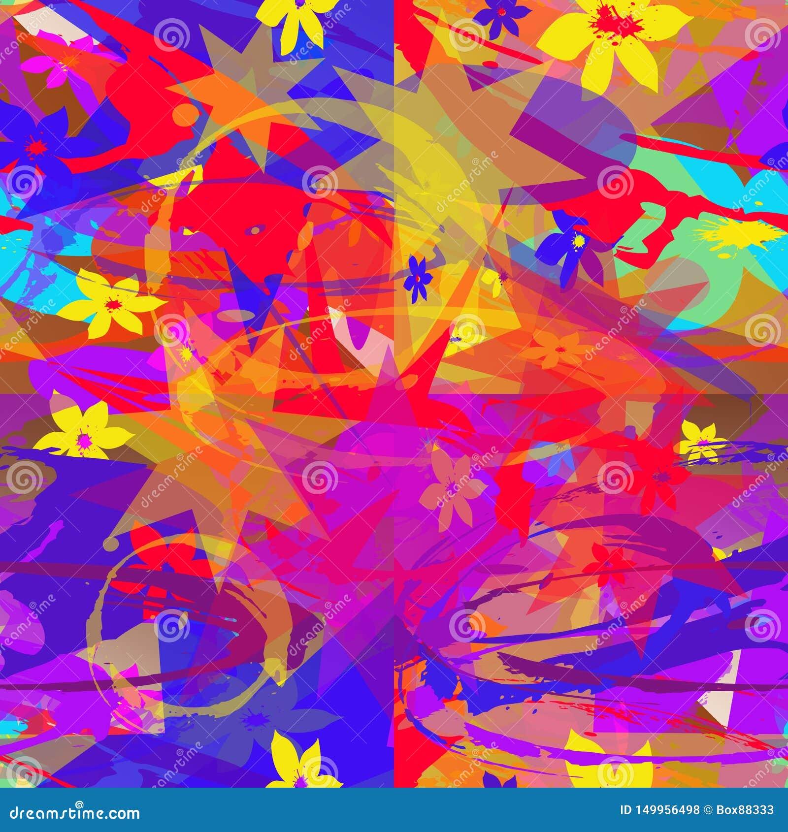 多彩多姿的元素的无缝的抽象样式
