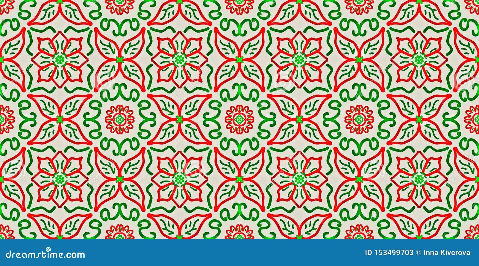 多彩多姿的几何形状的无缝的不尽的重复的明亮的装饰品