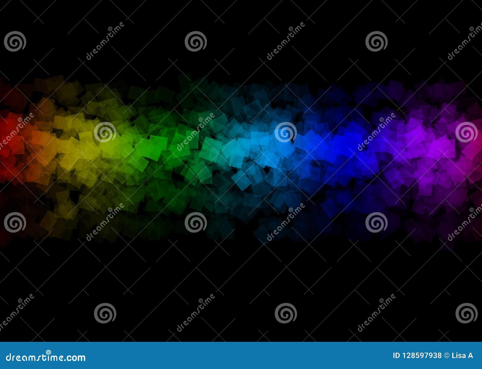 多彩多姿的彩虹摘要背景艺术设计美丽的横幅
