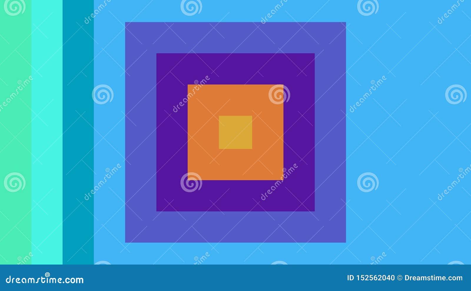 多彩多姿的正方形在美好的色的背景中被结合