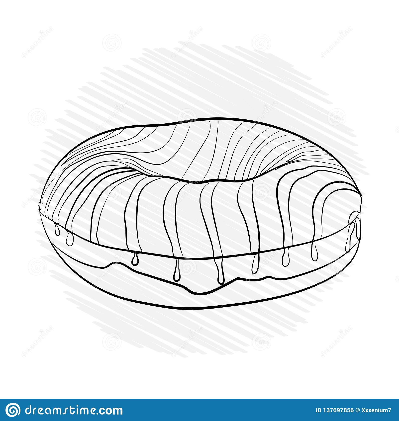 多福饼镶边甜点 传染媒介例证黑色