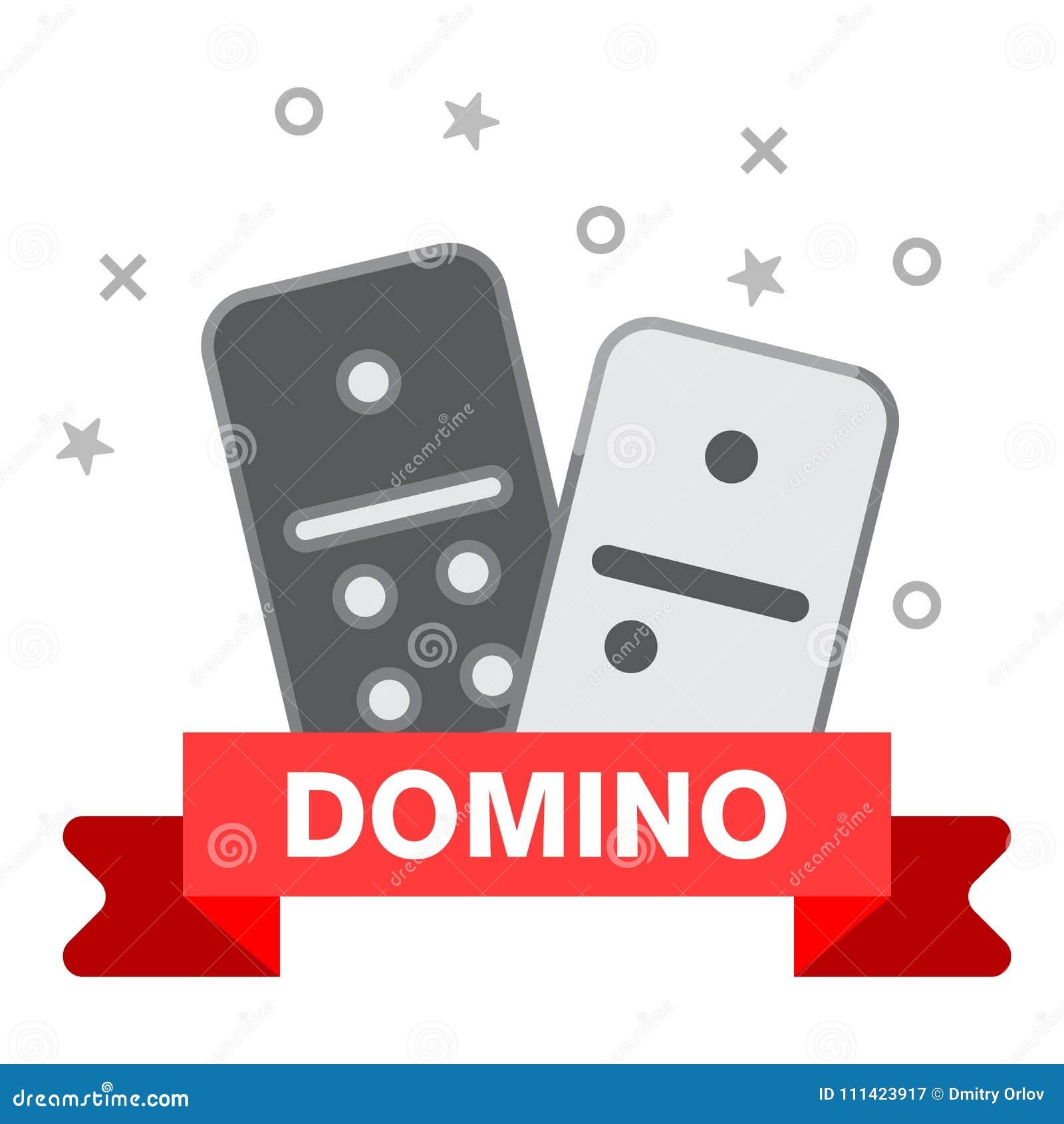 多米诺线象 概述多米诺在白色背景网的传染媒介象的例证隔绝的