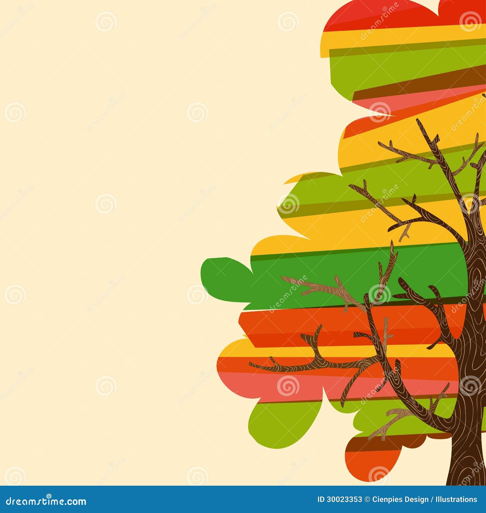 多色树背景