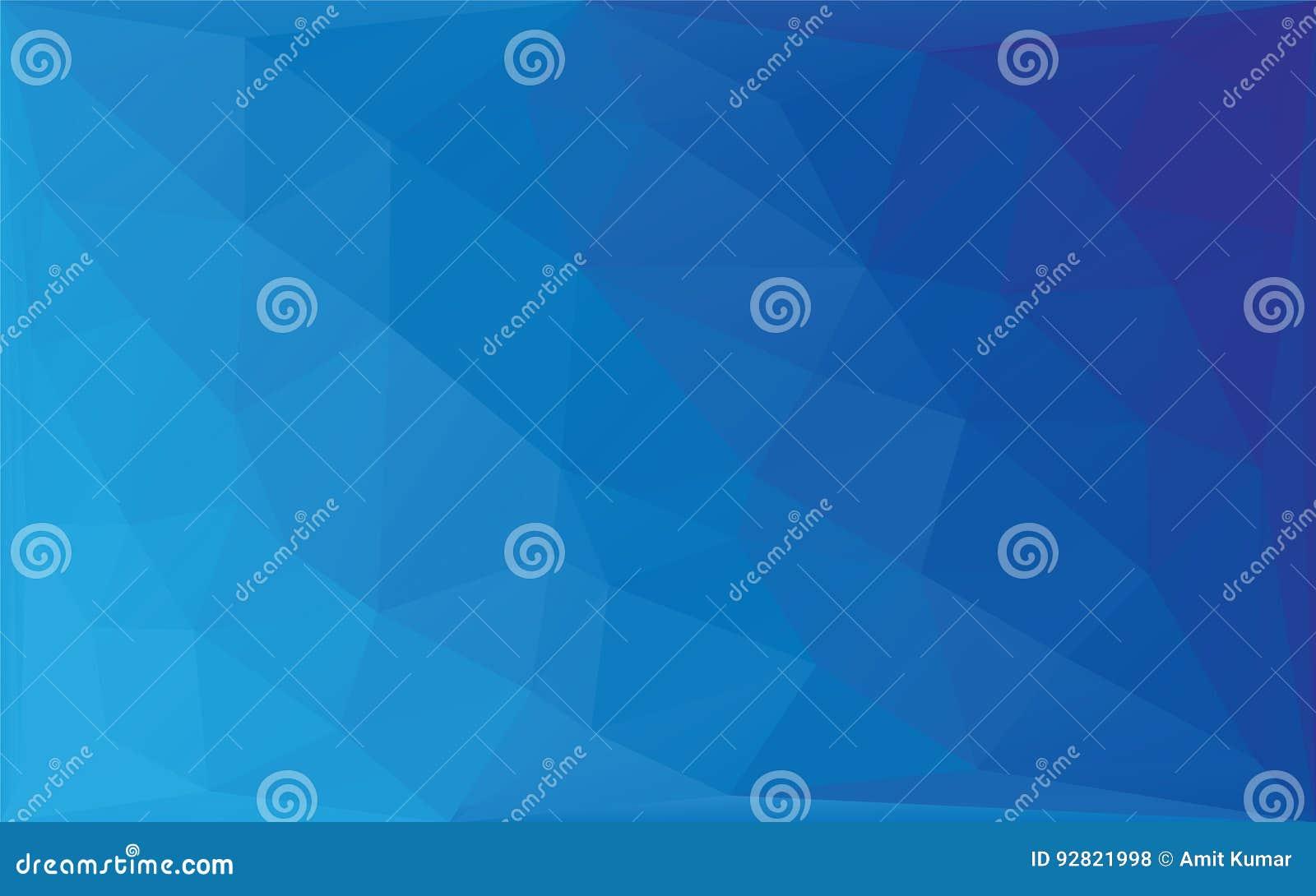 多角形抽象马赛克传染媒介背景,三角低多样式蓝色梯度例证图表背景