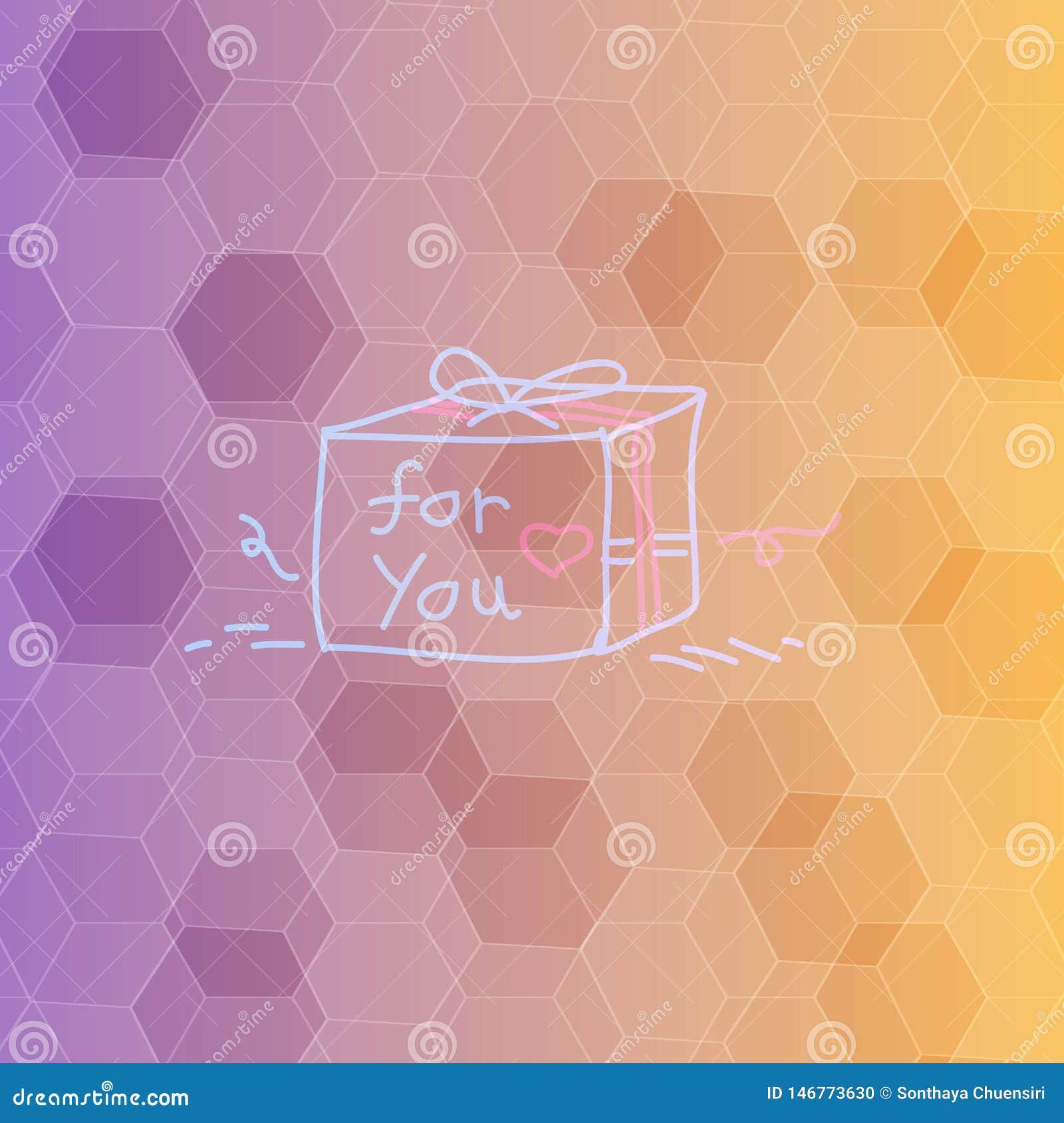 多角形背景和礼物盒