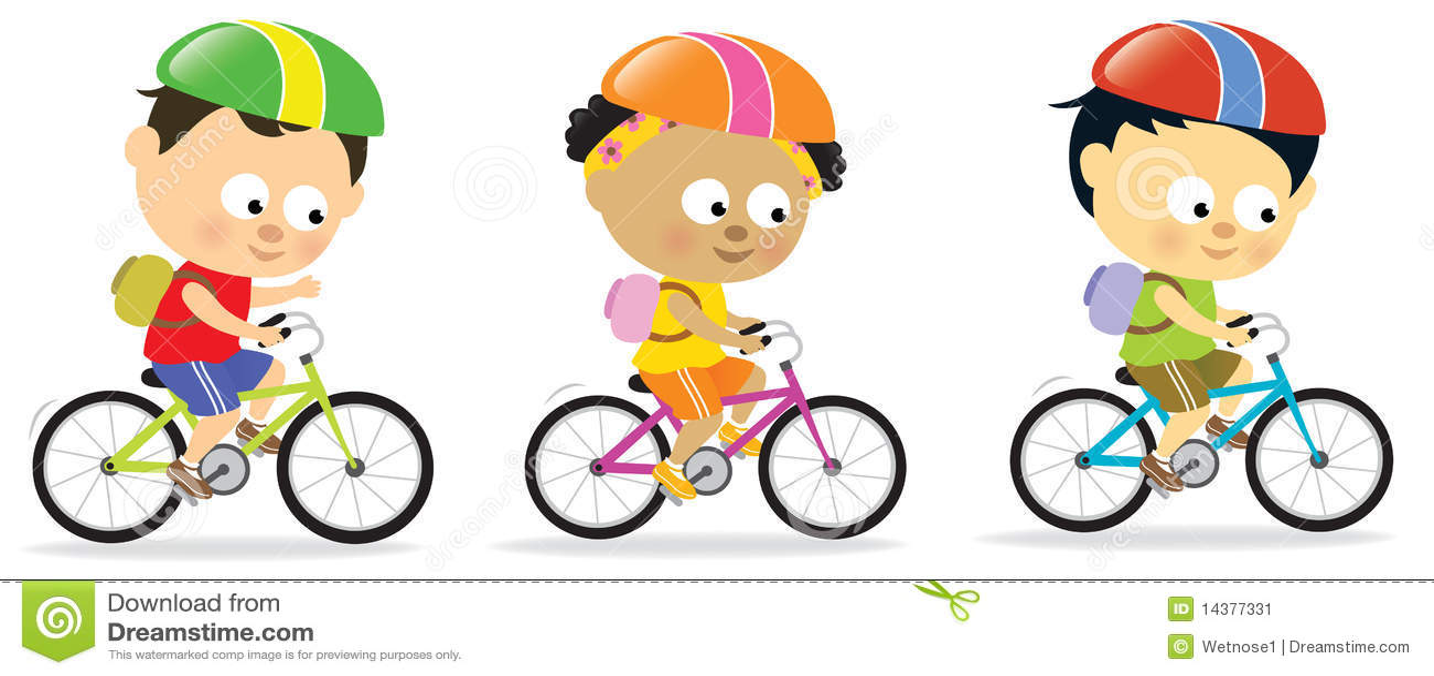 骑自行车儿童另外国籍乘坐.图片