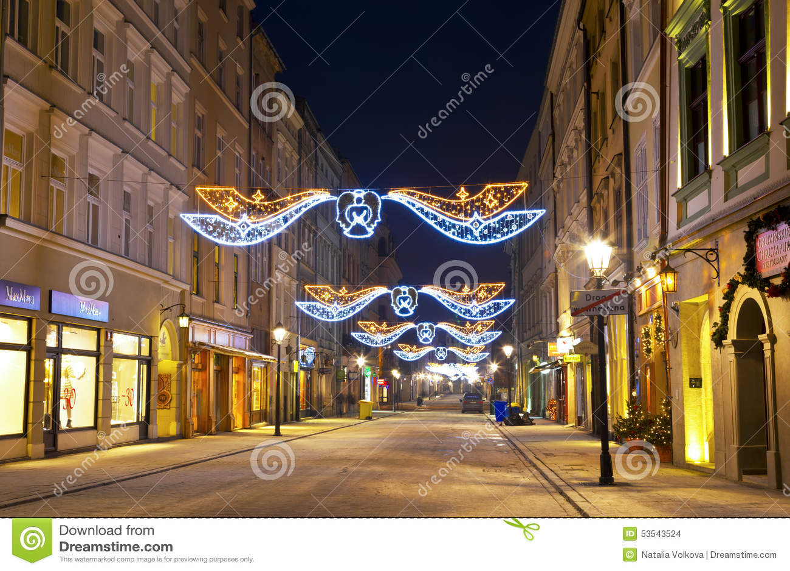 夜克拉科夫在波兰,弗洛里安的街道