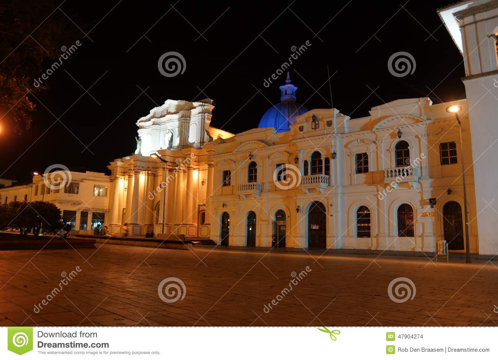 夜在波帕扬哥伦比亚