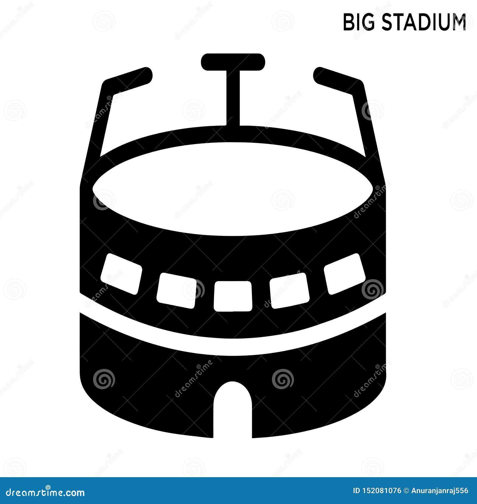 大体育场编辑可能的象大厦概念