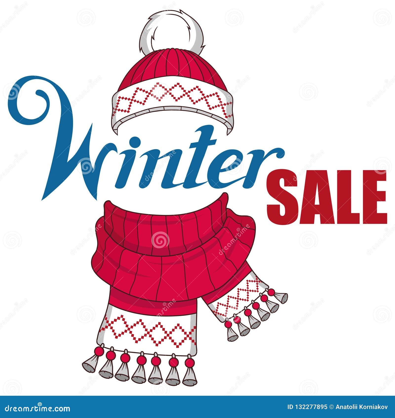 大冬天销售横幅,与新年或圣诞节设计元素 圣诞节购物 新年` s假日 冬天销售海报