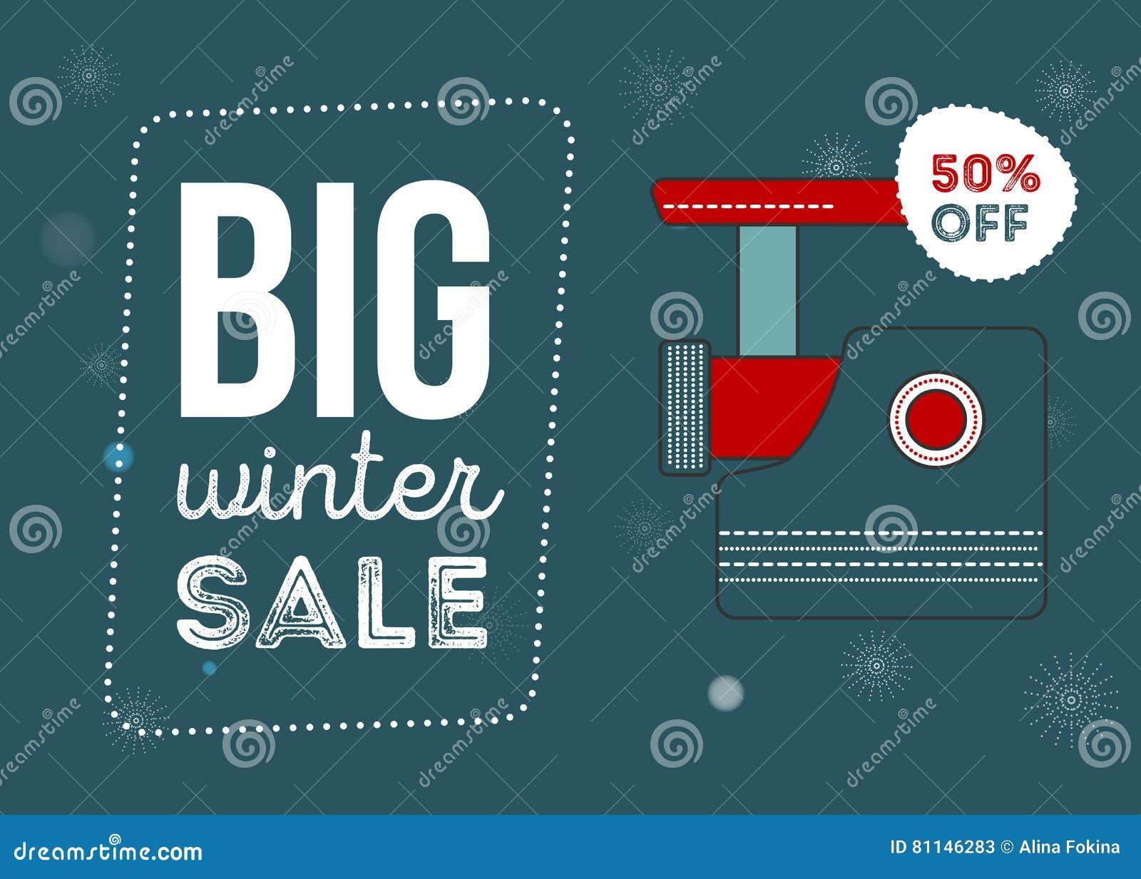 大冬天销售海报