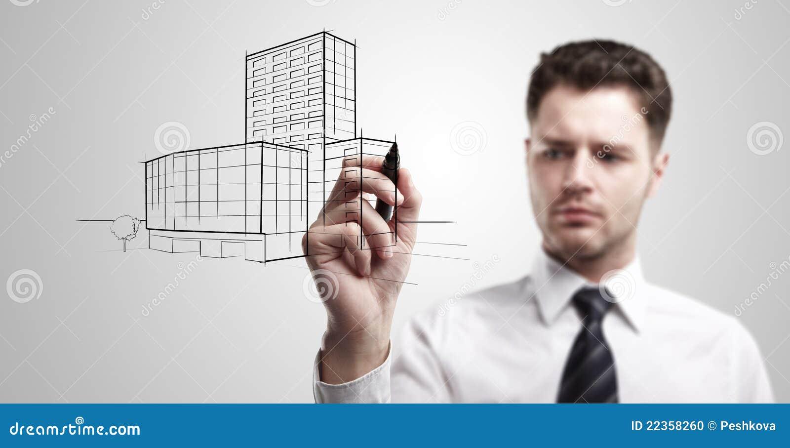 大厦企业图画人项目年轻人