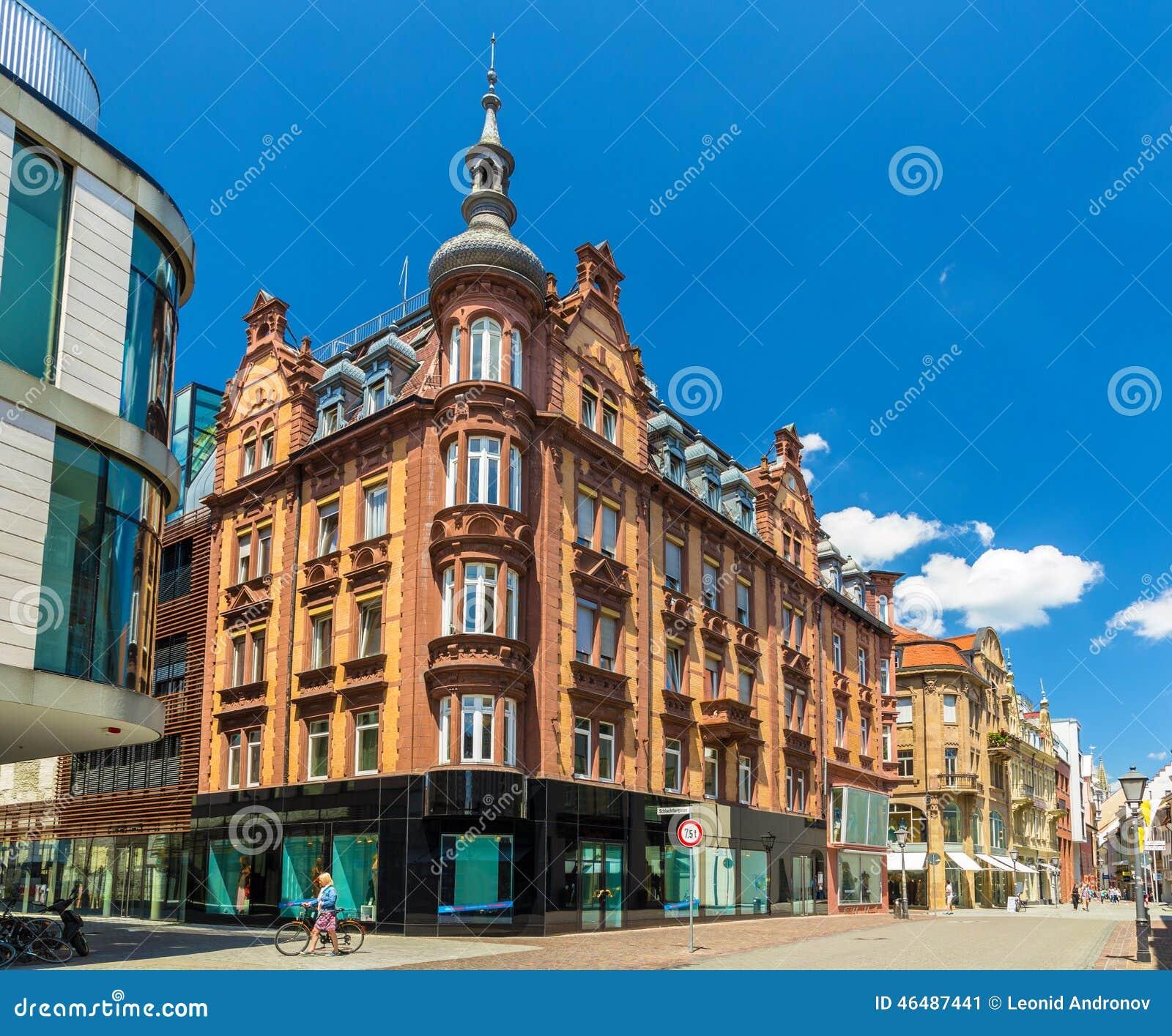大厦在康斯坦茨,德国的市中心