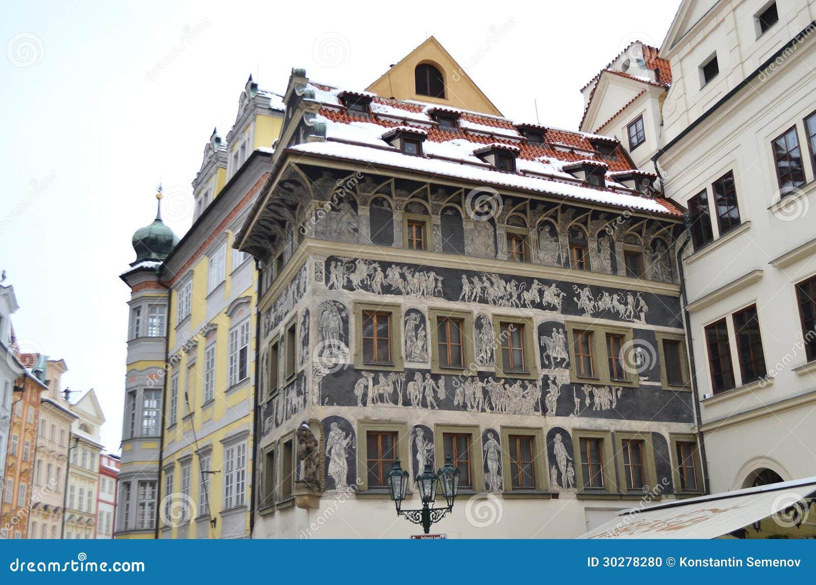 大厦在老镇中心在布拉格