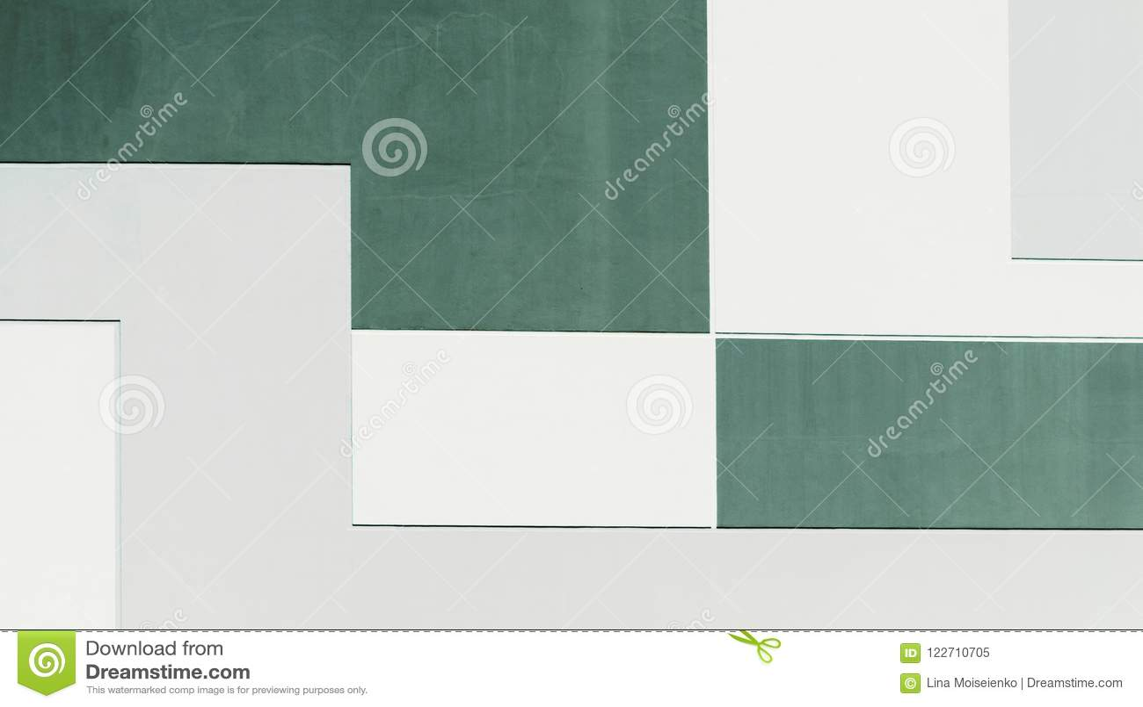 大厦墙壁在淡色两种颜色,几何抽象背景中