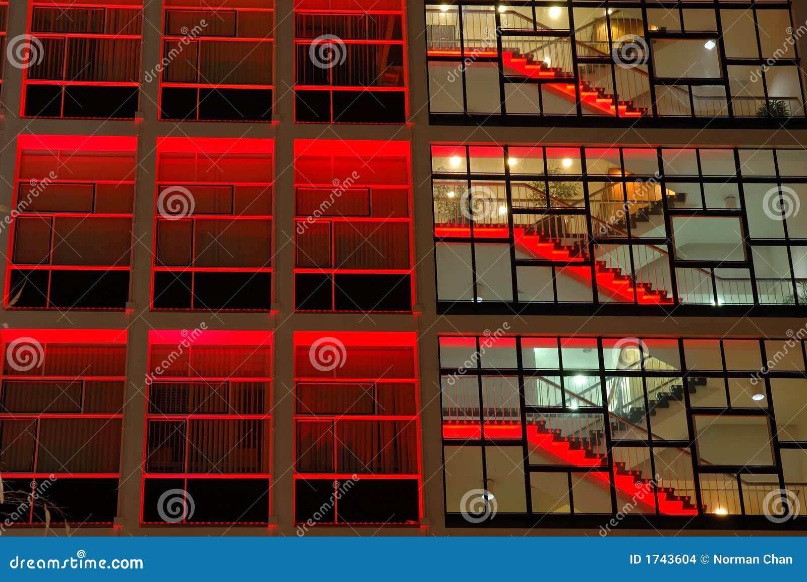 大厦照明设备办公室红色
