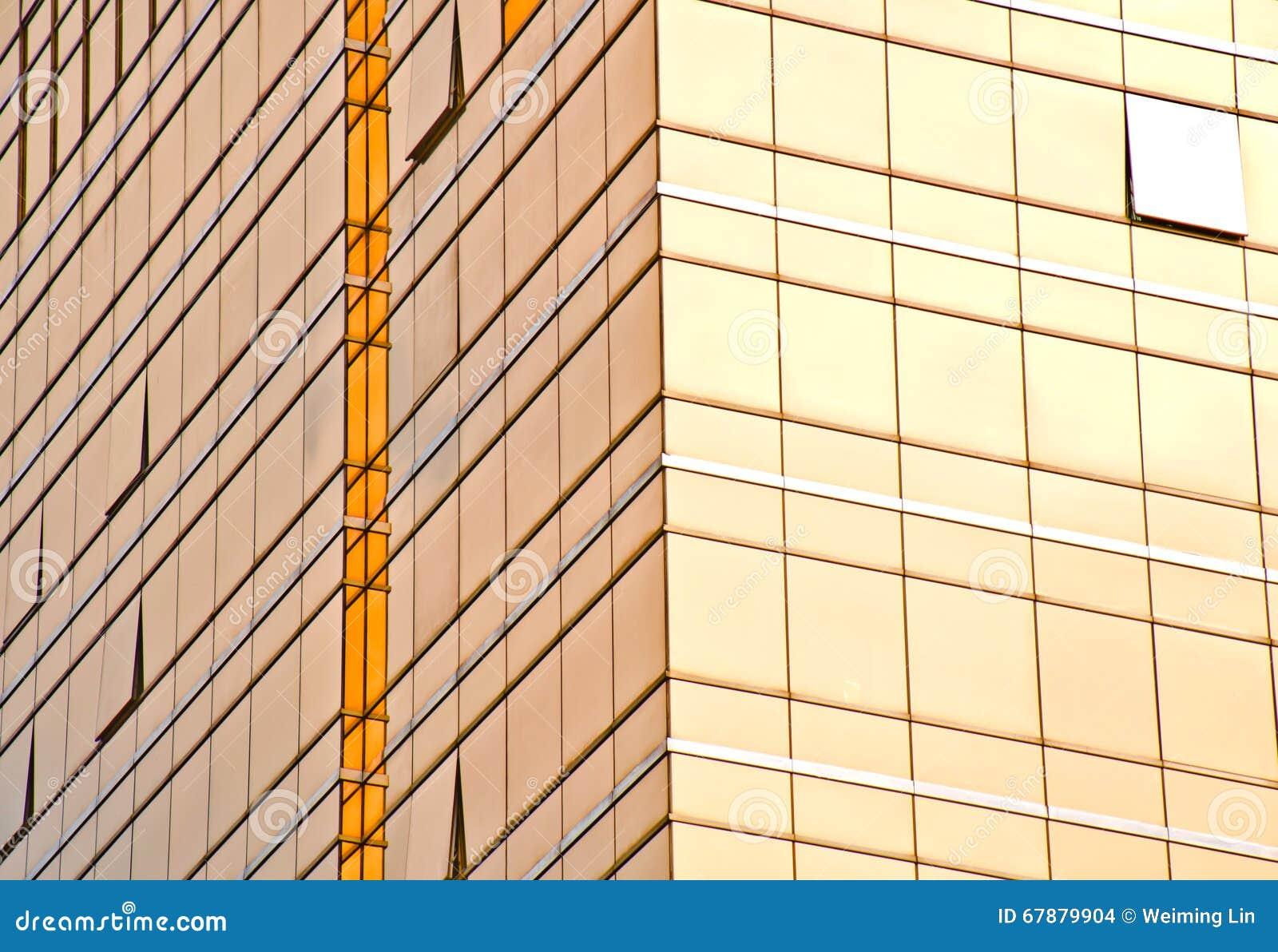大厦的金玻璃墙