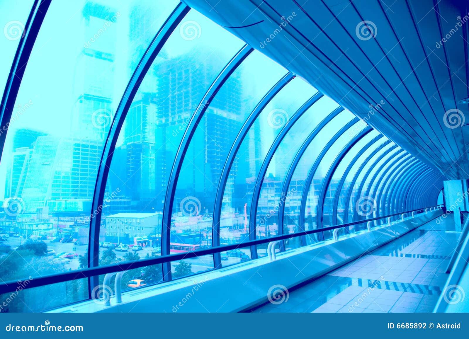 大厦走廊几何玻璃现代