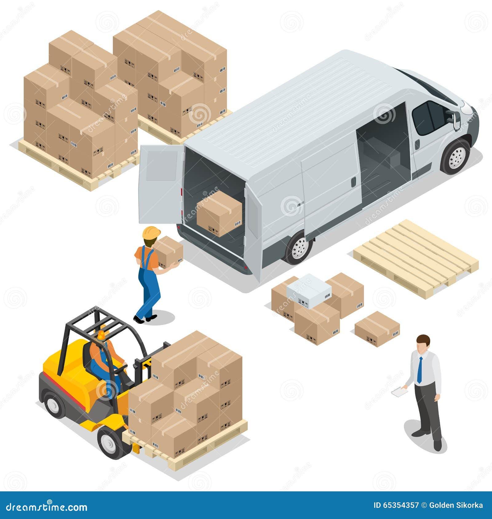 大商店 装载和卸载从仓库