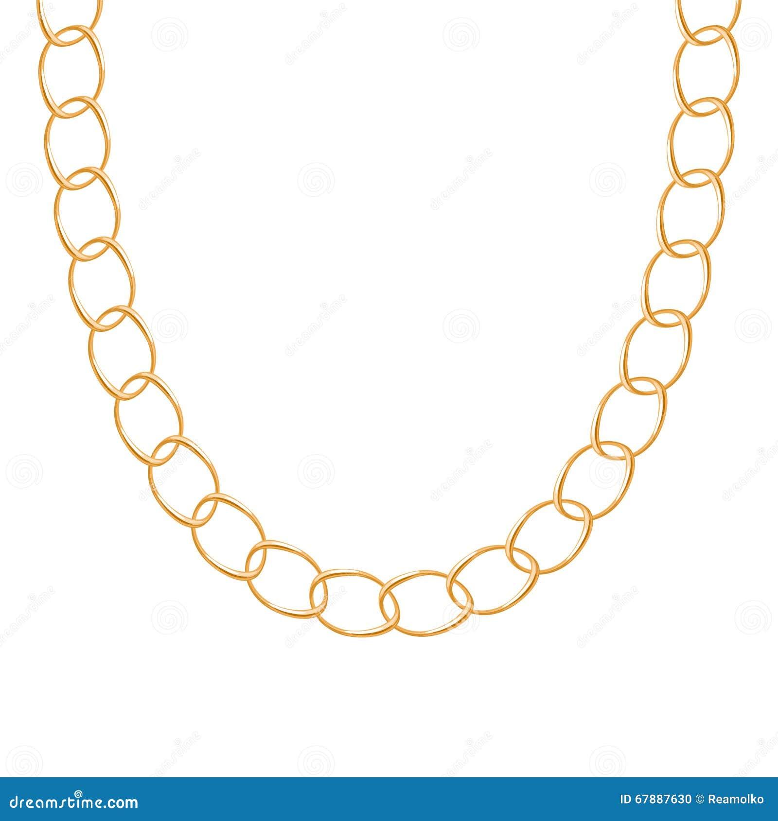 大块的链金黄金属项链或镯子