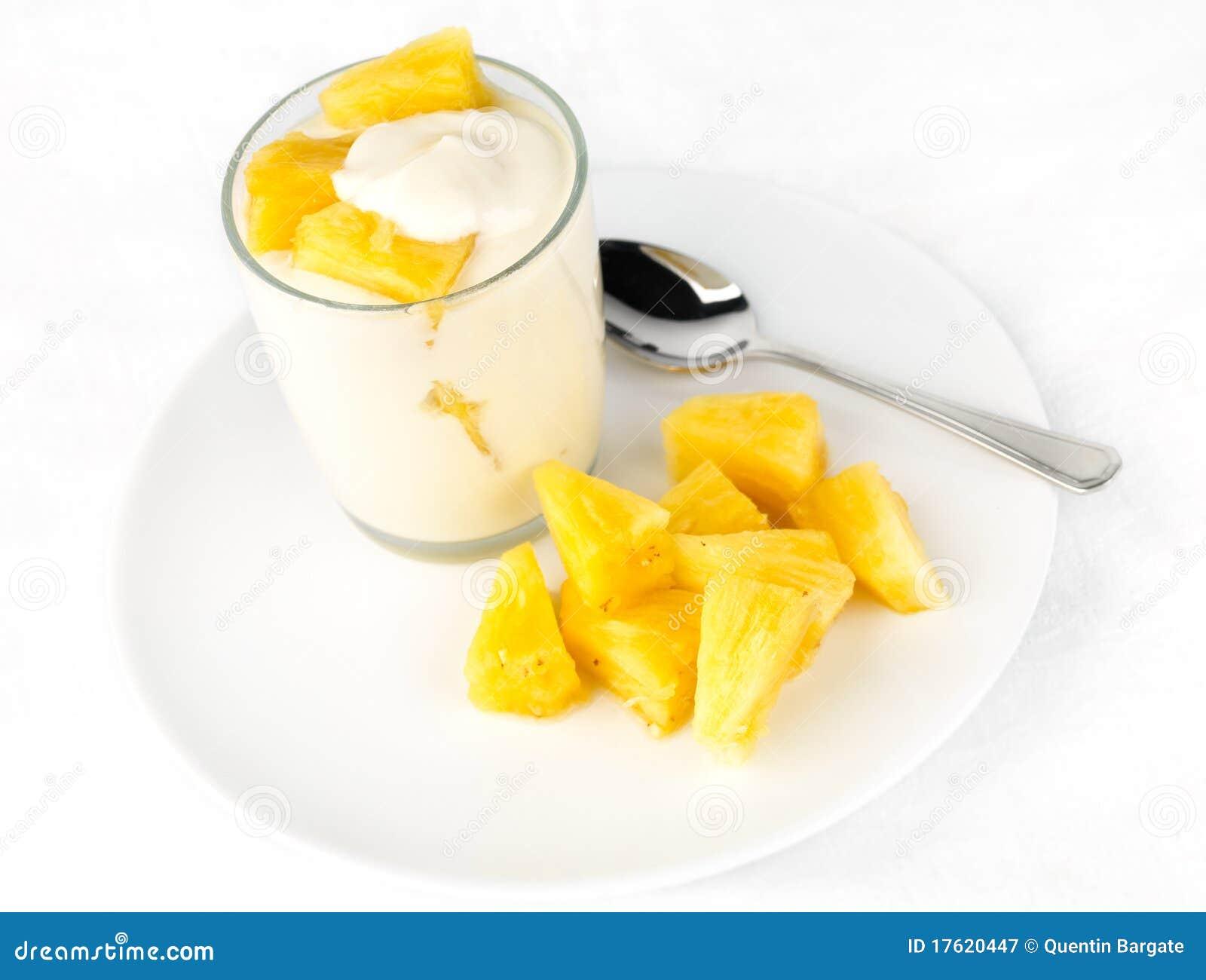 大块菠萝酸奶
