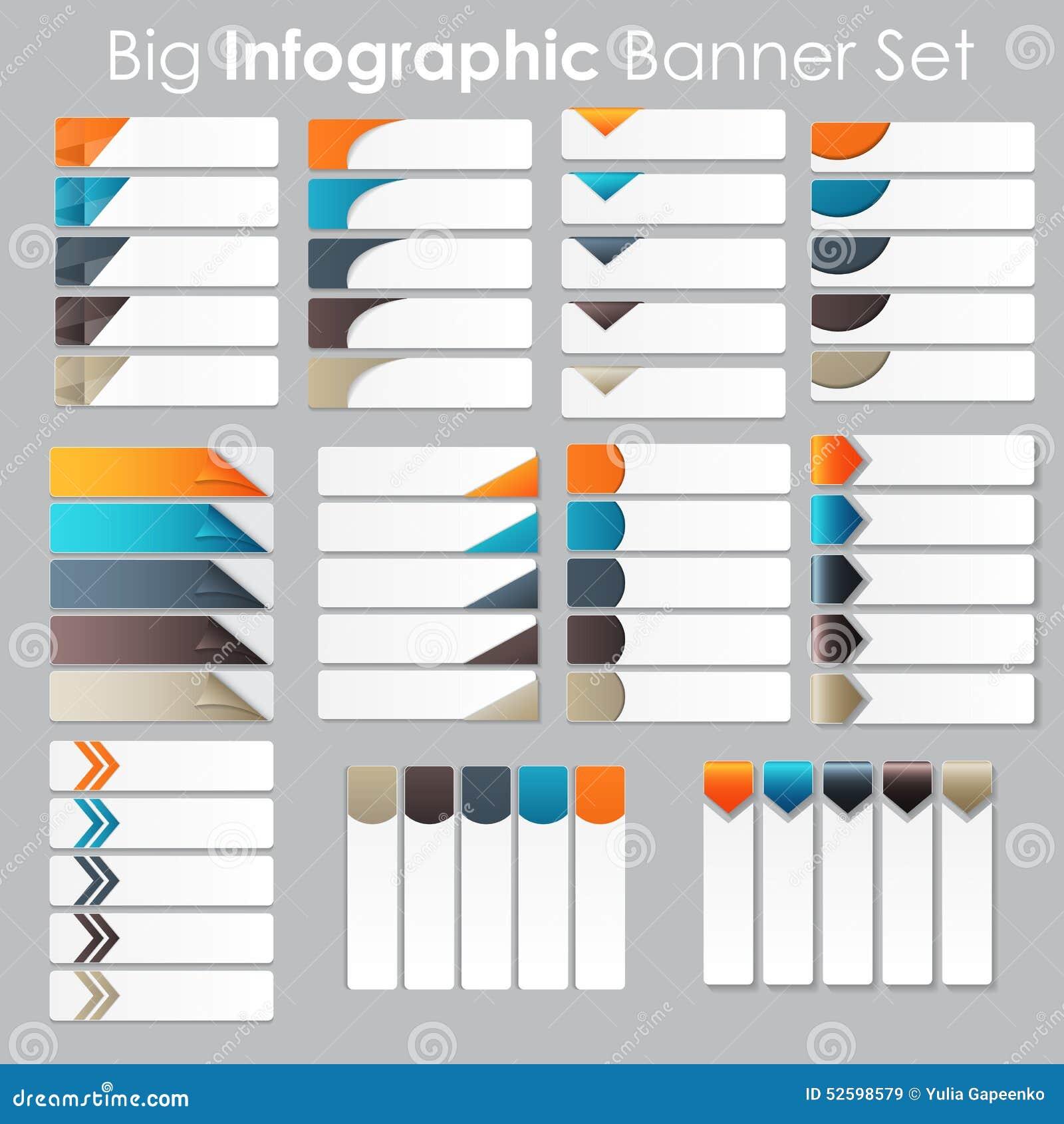 大套Infographic您的横幅模板