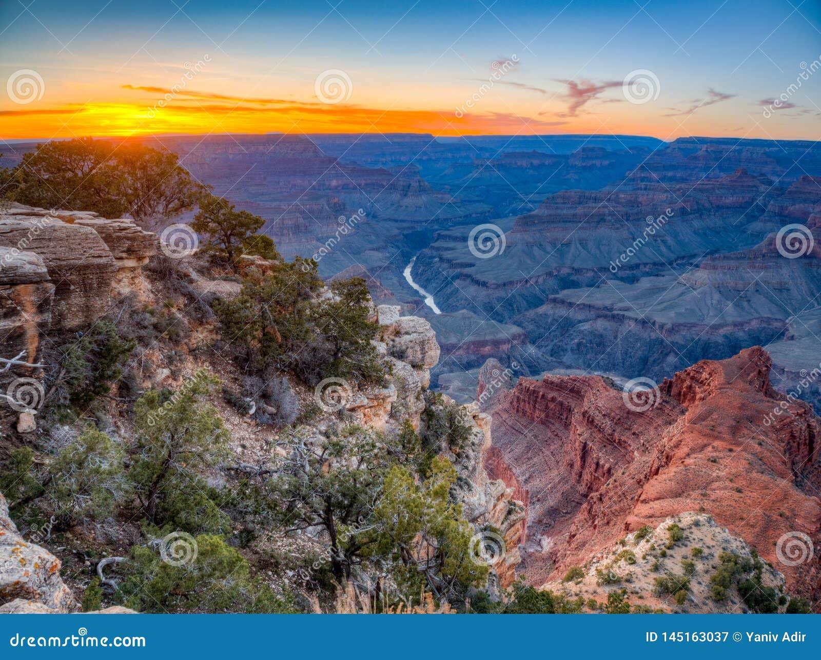 大峡谷日落