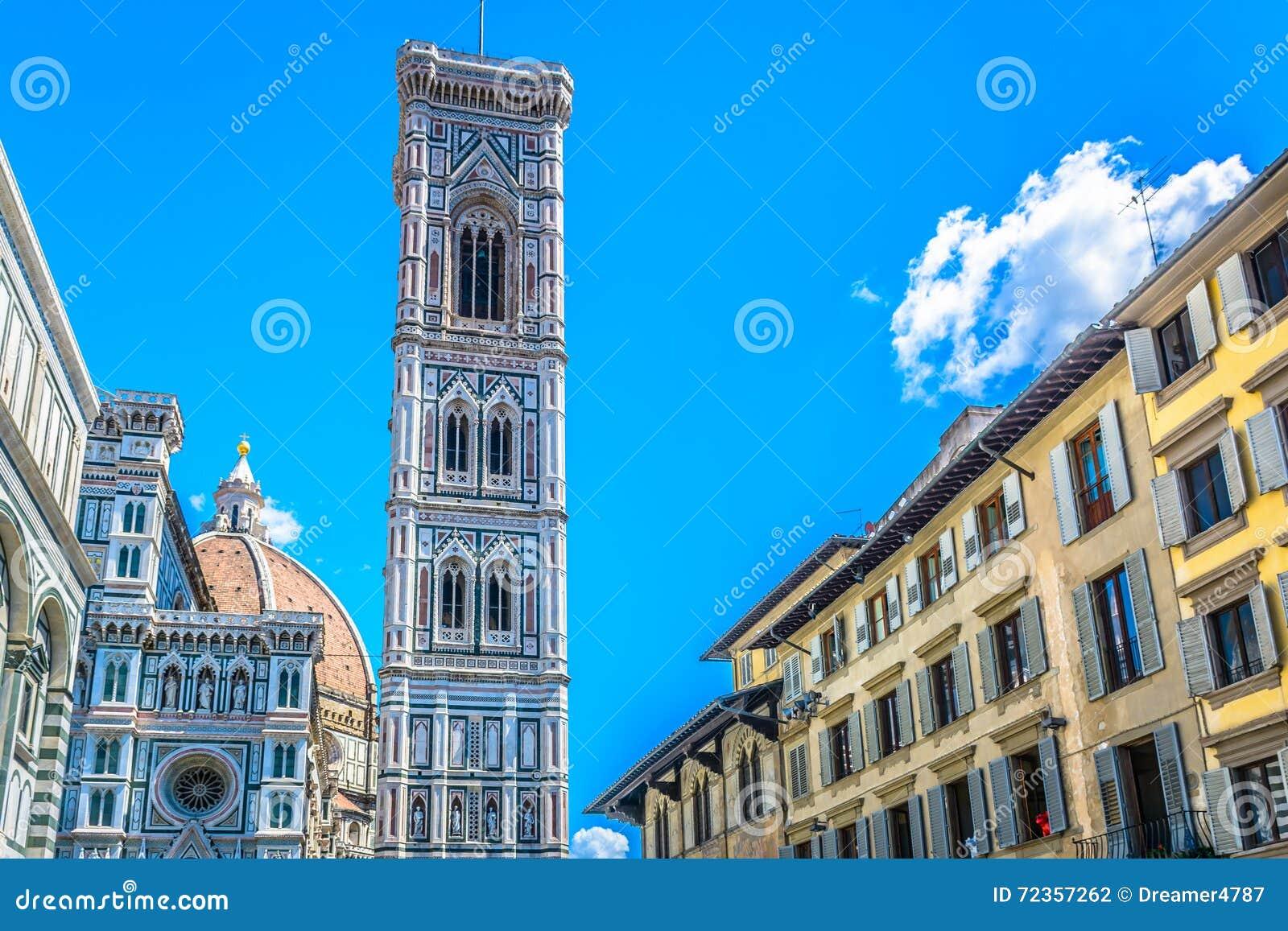 大教堂钟楼在佛罗伦萨,意大利