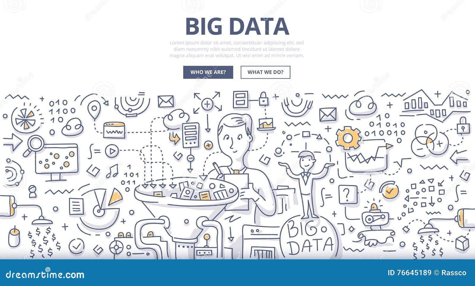 大数据乱画概念