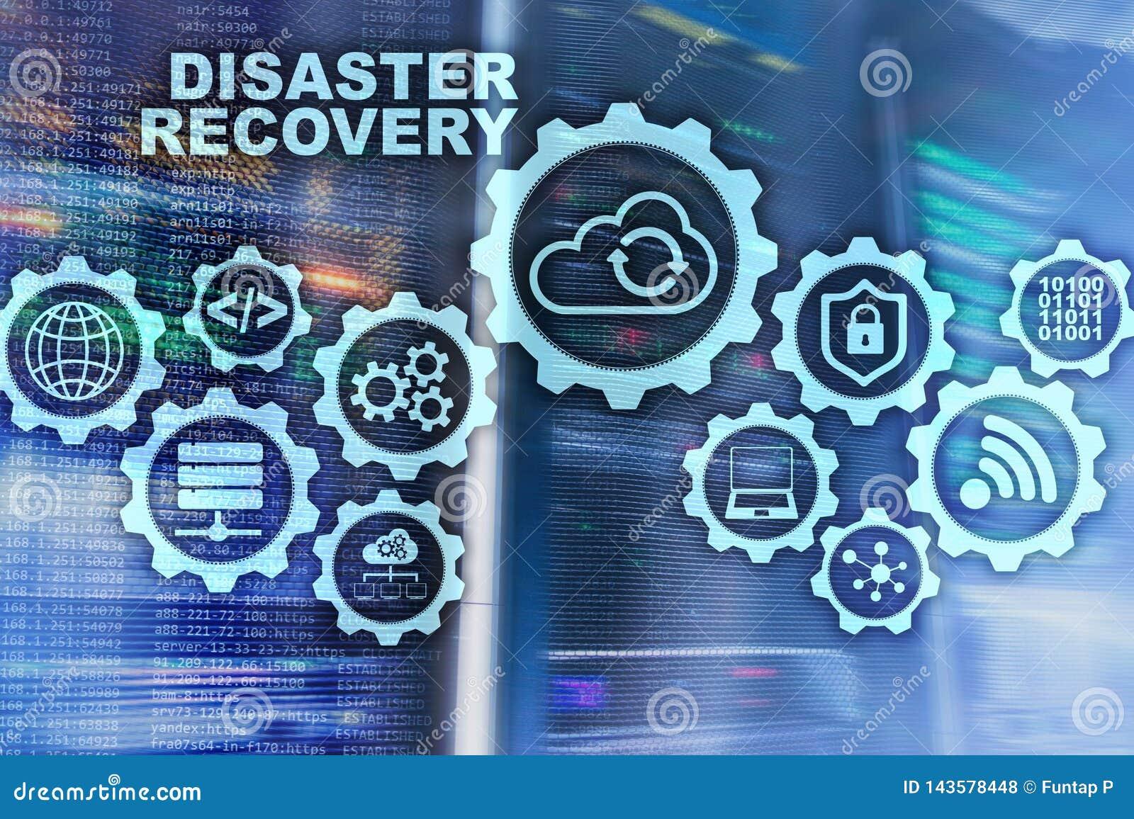 大数据灾后重建概念 备用计划 数据在一个虚屏上的预防损失的措施