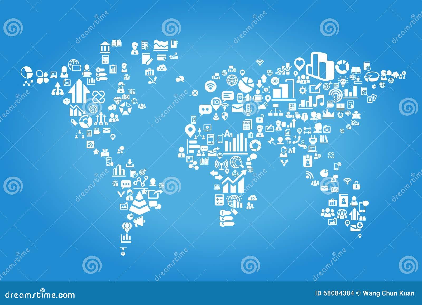 大数据科学概念-与数据科学企业象的世界地图.图片
