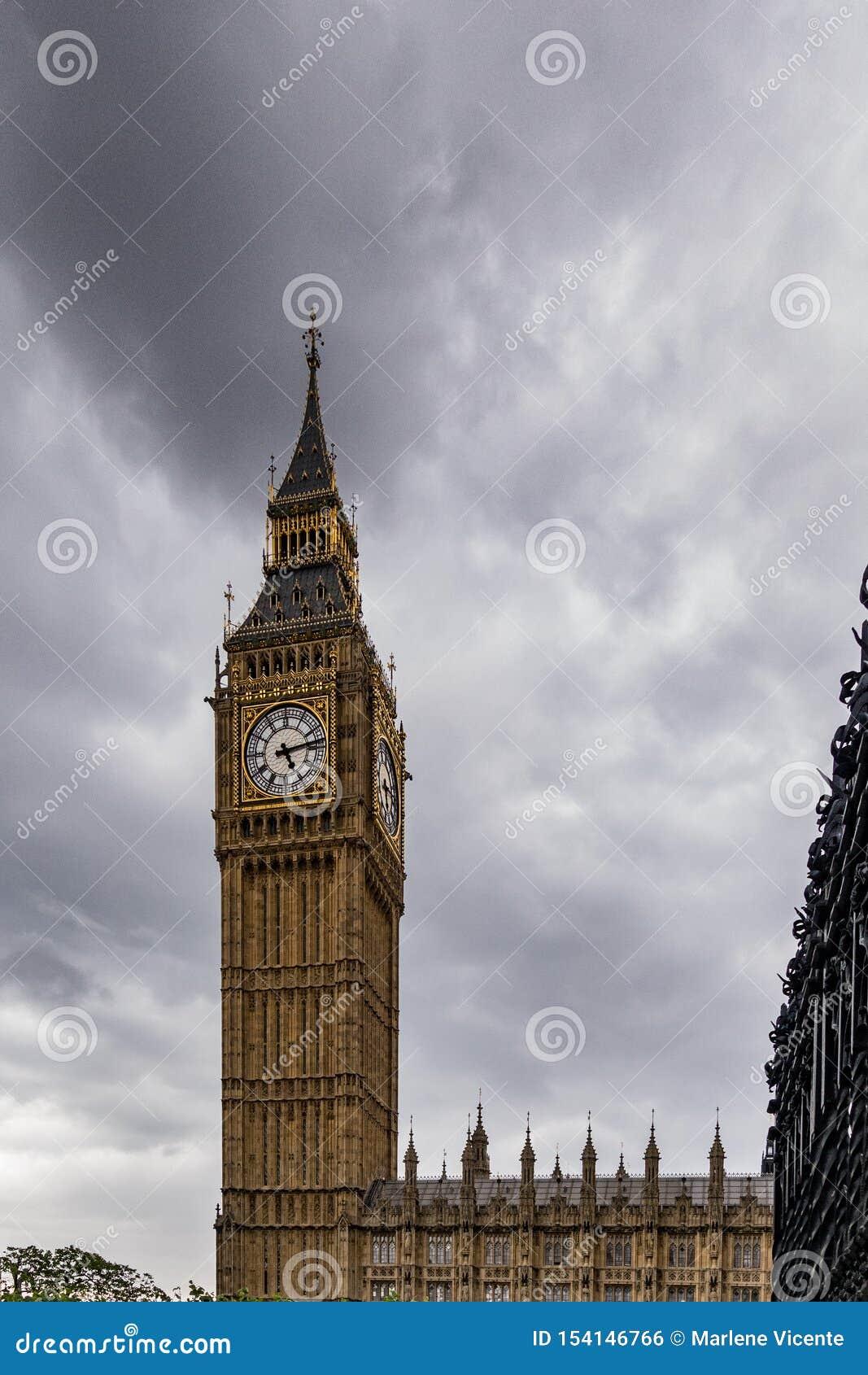 大本钟在伦敦 英国英国