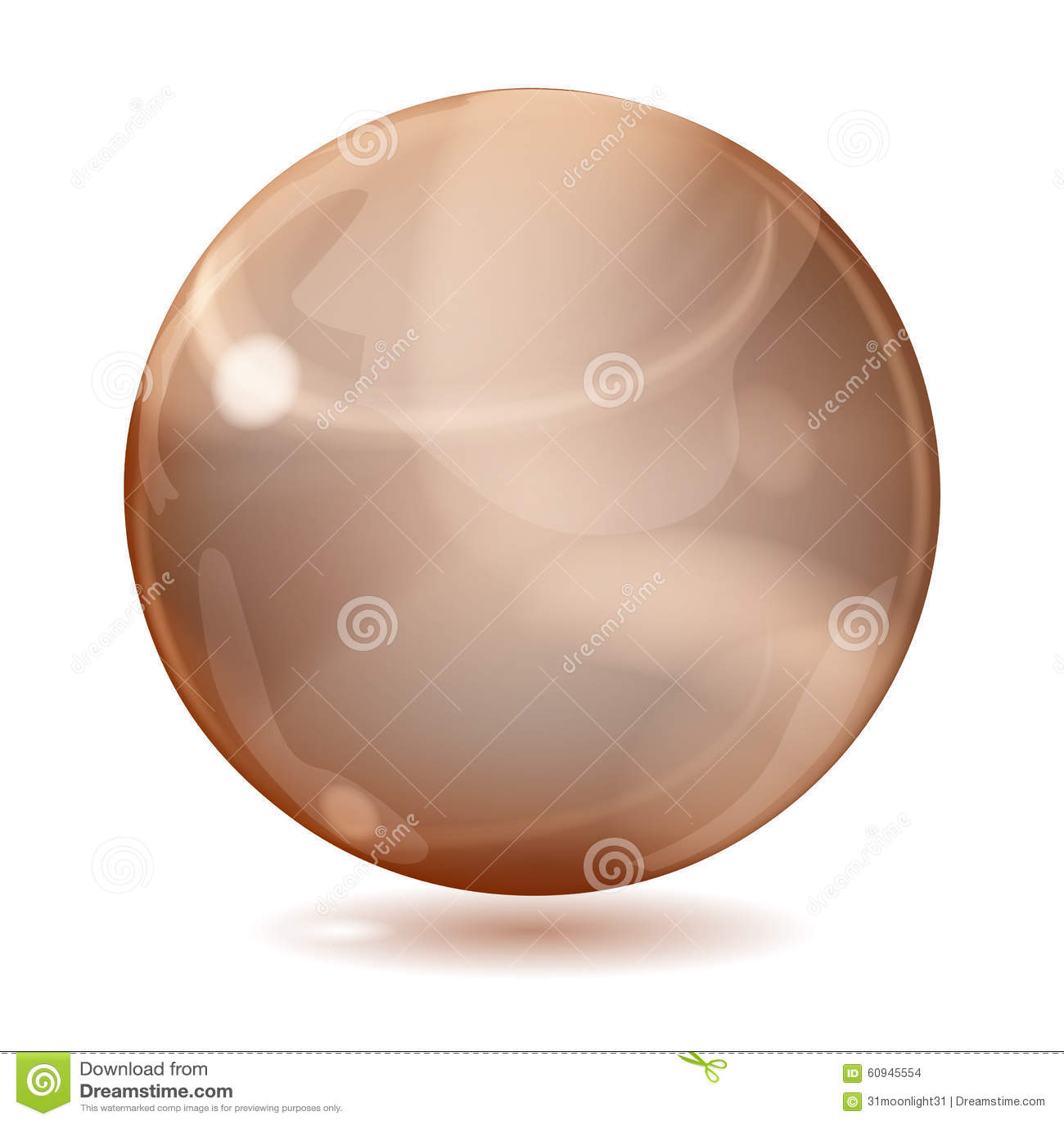 大棕色不透明的玻璃球形