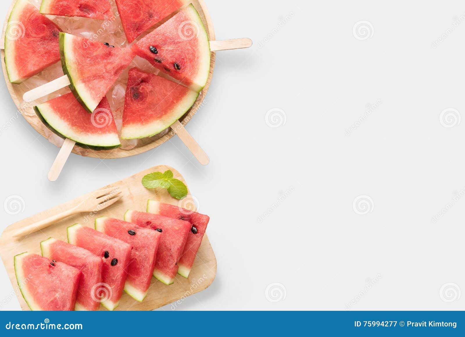 大模型健康西瓜和西瓜冰淇凌集合设计