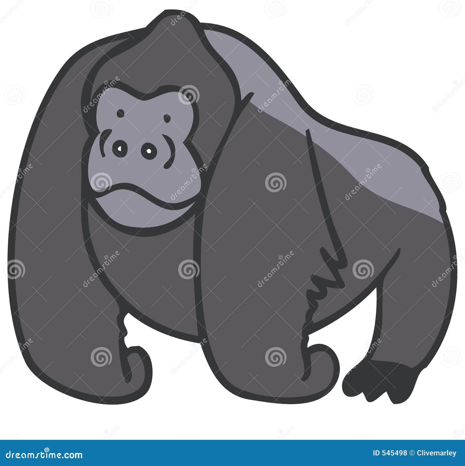 Download 大猩猩 库存例证. 插画 包括有 猴子, 单独的, 例证, 动画片, 哺乳动物, 密林, 图画, backarrow - 545498